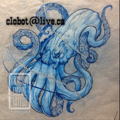 Octopuss Sketch by Chad Clothier