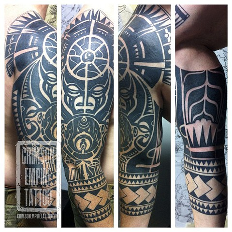 Polynesian Bull Sleeve by Jared Phair