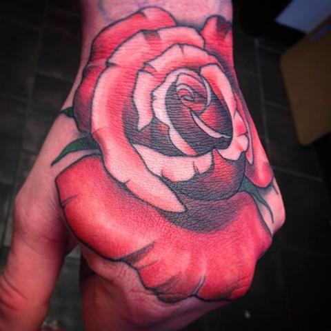 Rose Tattoo By Landon Wierenga Color Crimson Empire Tattoo