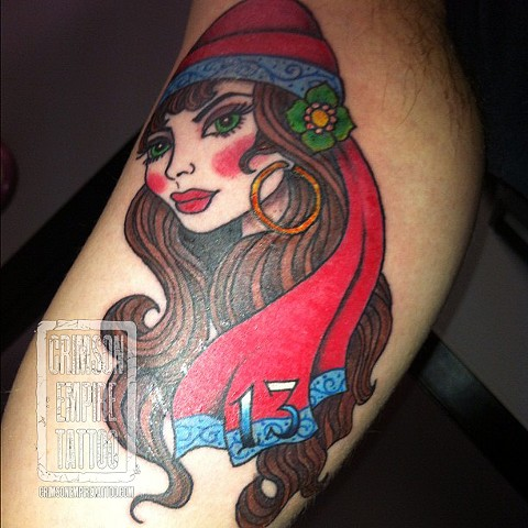 Gypsy on arm by Jessica Alther. Follow Jessica @jessalther