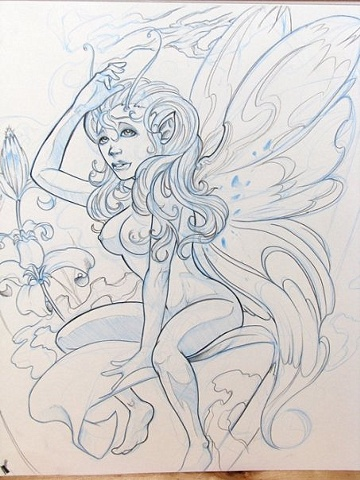 Faerie Tattoo Sketch