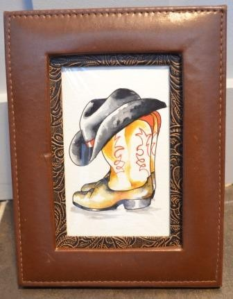 Cowboy boots- watercolor
