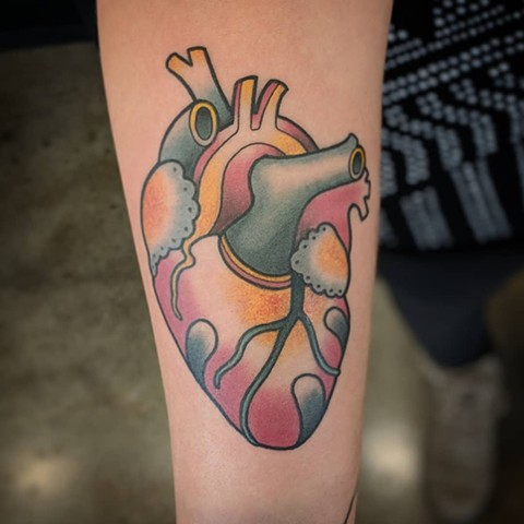 Heart Tattoo By Landon Wierenga Color Crimson Empire Tattoo
