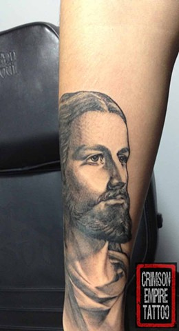 Jesus Tattoo Crimson Empire Tattoo