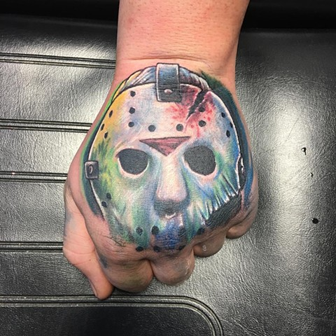 Jason Tattoo By Chris Labrenz Color Black Gold Tattoo Co
