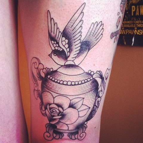 Teapot and Bird by Sydney Dyer