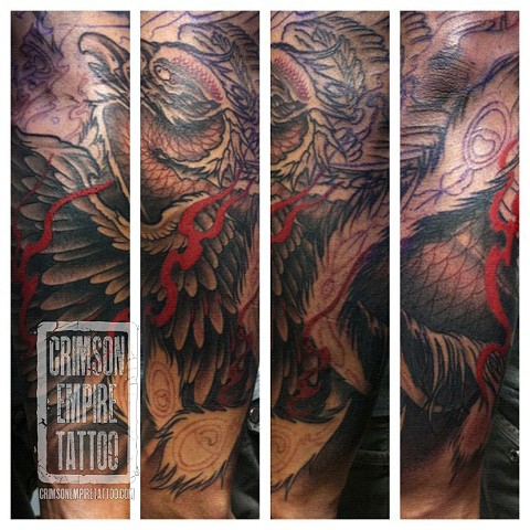 Phoenix forearm sleeve by Jared Phair