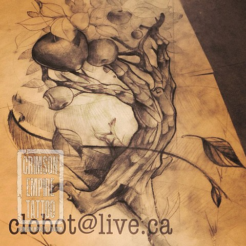 Apple tree sketch by Chad Clothier