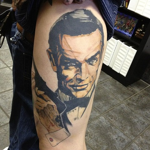 James Bond Tattoo By Marshall Khalil Color Crimson Empire Tattoo