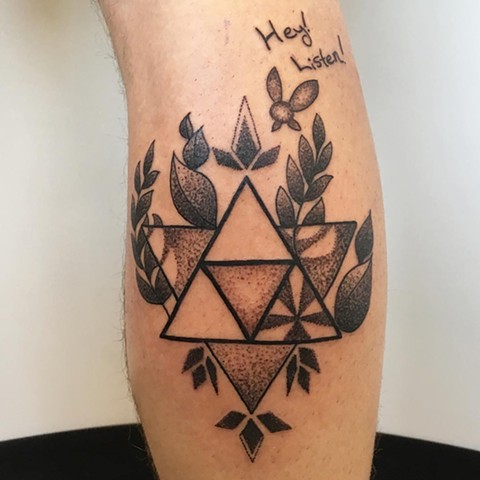 Zelda Geometric Tattoo By Vanessa Spezowka Pointillism Crimson Empire Tattoo