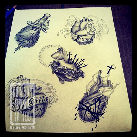 Heart and sword sketch by Jessica Doyle. Follow Jessica @jessicadoyle