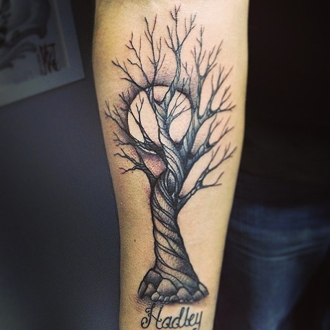 Tree on arm by Sydney Dyer