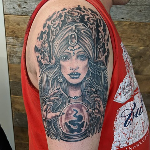 Gypsy Tattoo By Sheila Anderson Black And Grey Crimson Empire Tattoo