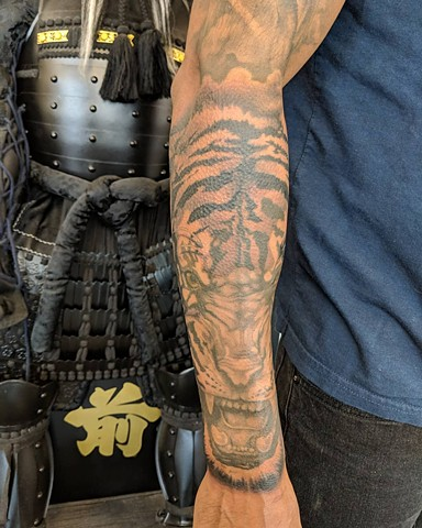 Tiger Tattoo By Kevin Sherritt Black And Grey Crimson Empire Tattoo
