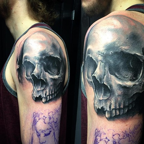 Skull Tattoo By Samantha Storey Color Crimson Empire Tattoo