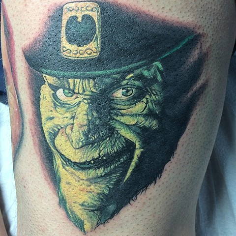 Leprechaun Tattoo By Marshall Khalil Color Crimson Empire Tattoo