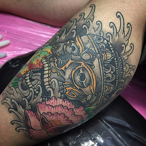 Skull Tattoo By Guka Black And Grey With Color Black Gold Tattoo Co