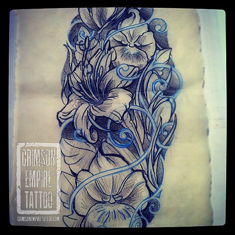 Flower sketch by Jared Phair. Follow Jared @jroctizzle