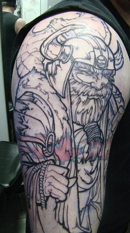 Tattoo Repair Viking Cover up Tattoo