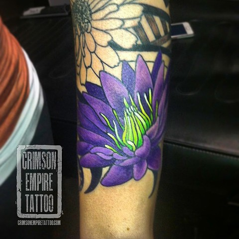 Purple Flowers on forearmby Jessica Alther