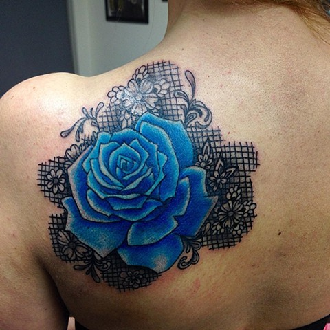 Rose Tattoo By Jess Alther Color Black Gold Tattoo Co