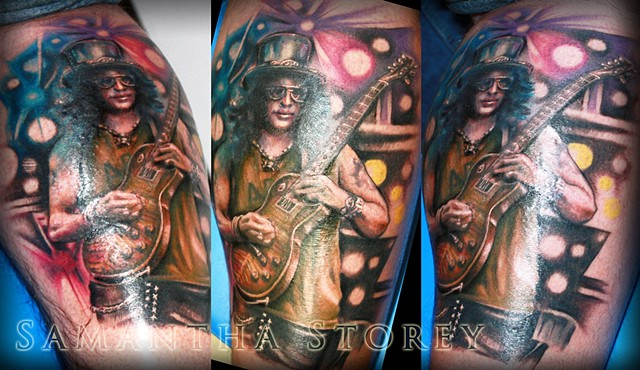 Slash Tattoo By Samantha Storey Color Crimson Empire Tattoo