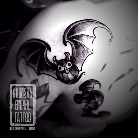 Bats on back by Chad Clothier