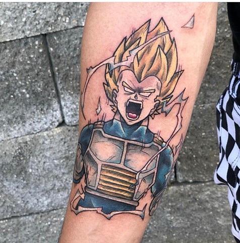 Vegeta Tattoo By Vanessa Spezowka Crimson Empire Tattoo