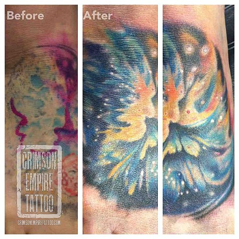 Color coverup on foot by Jared Phair