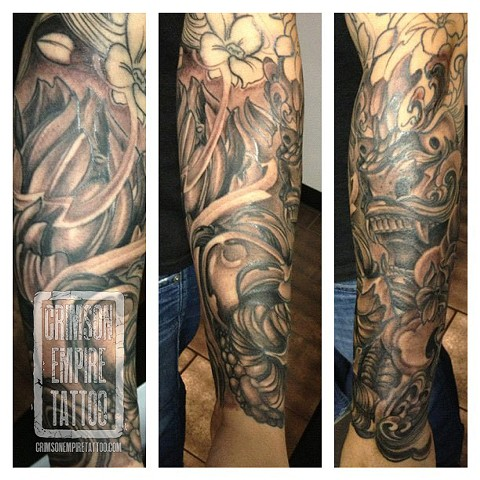 Flower sleeve by Josh Lamoreux. Follow Josh @joshlamoureux
