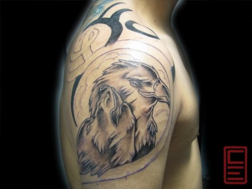 Eagle Tribal Tattoo