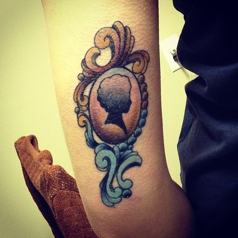 Vintage Pendant on arm by Sydney Dyer