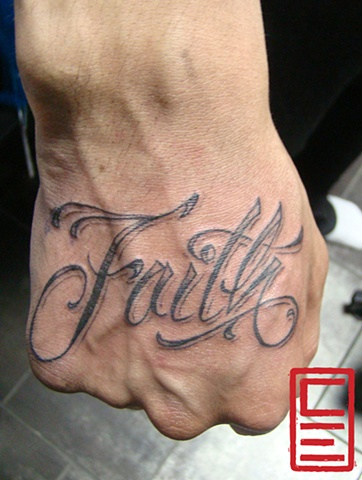 Faith Hand Tattoo