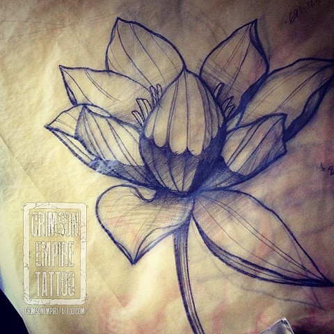Flower sketch by Chad Clothier. Follow Chad @clobot