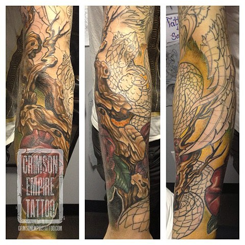 Roses Branch on forearm by Josh Lamoureux