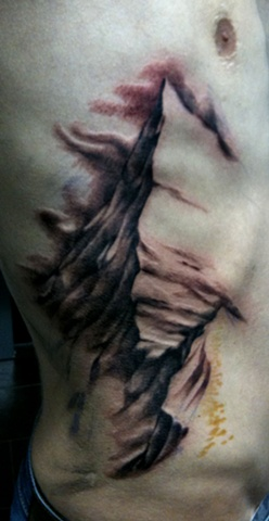 Mountain Landscape Tattoo