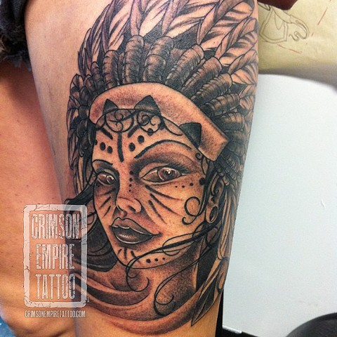 headdress girl portrait by Jared Phair