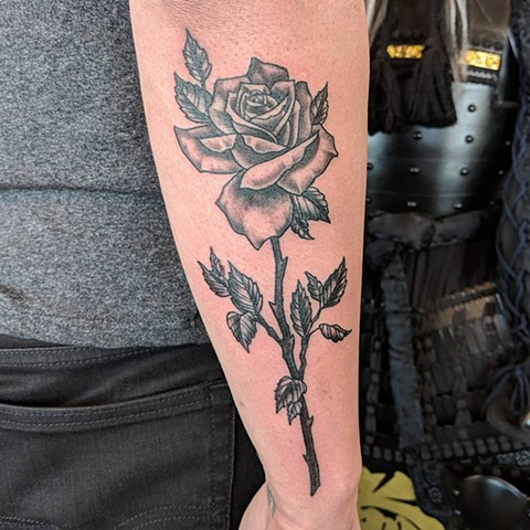 Rose Tattoo By Sheila Anderson Crimson Empire Tattoo