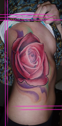 Rose Tattoo By Josh Lamoureux Color Crimson Empire Tattoo