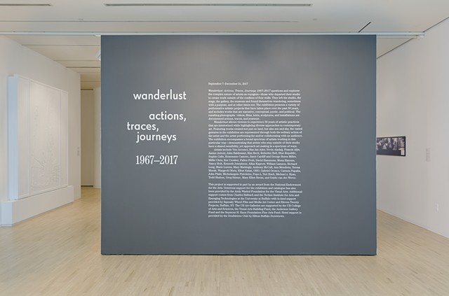 """Wanderlust: actions, traces, journeys 1967-2017"" at the University at Buffalo Galleries"