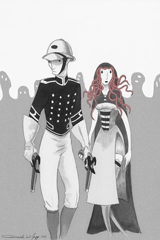 Illustration/Promo for Jack Union: Victorian Monster Hunter book