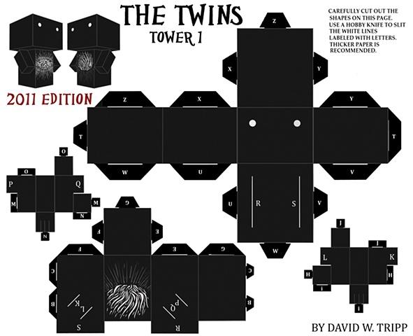 The Twins Papercraft Kit 1
