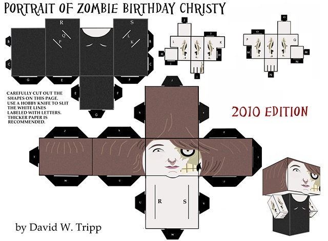 Portrait of Zombie Birthday Christy