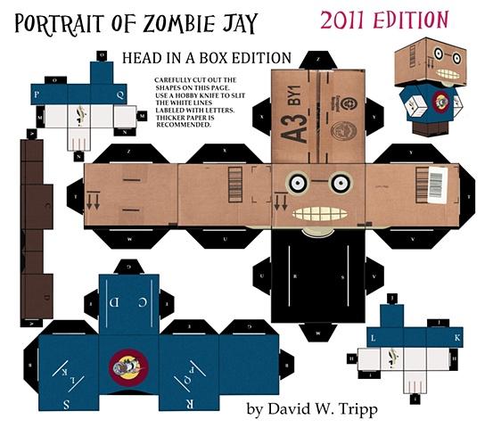 Zombie Head In A Box Jay