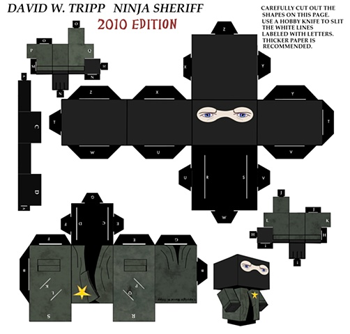 Selfportrait Ninja Sheriff Papercraft Kit