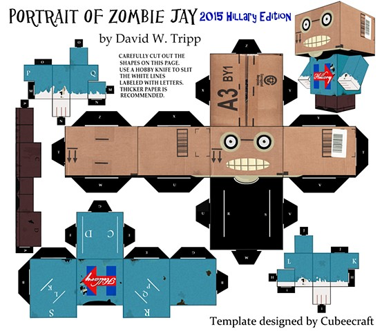 Zombie Head in a box Jay 2016 Hillary edition