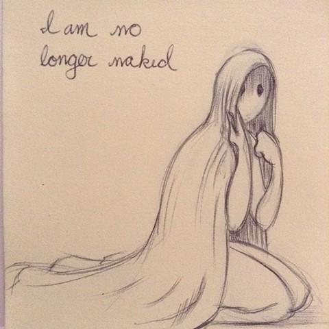 I am no longer naked