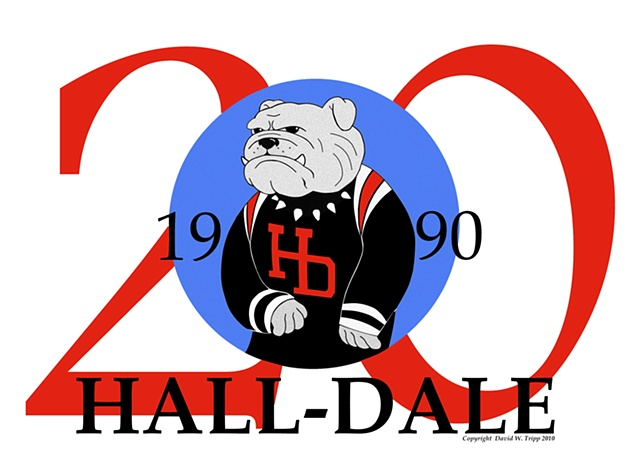 4 Color 20th Hall-Dale logo