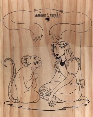Pre-Carved Alice in Wonderland Board for Collaborative Art Project