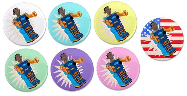 Obamaton Button Variants